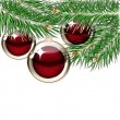 Christmas background with transparent balls — Vector de stock #4254151