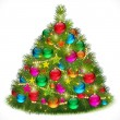 Lush Christmas tree vector image — Stock Vector