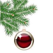 árvore de natal e bolas transparentes — Vetorial Stock