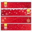 Vector Christmas Horizontal Banner — Stock Vector