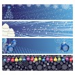Vector Christmas Horizontal Banner — Stock Vector #4313327