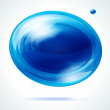 Vivid blue bubble. — Stock Vector