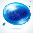 Stock Vector: Vivid blue bubble.