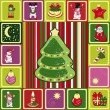 Stock Vector: Vector frame christmas pattern