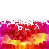Hermoso fondo con corazones — Vector de stock