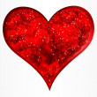Royalty-Free Stock Vector Image: Big red glitter heart. Vector.