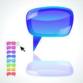 Speech bubbles - vector illustration — Stock Vector