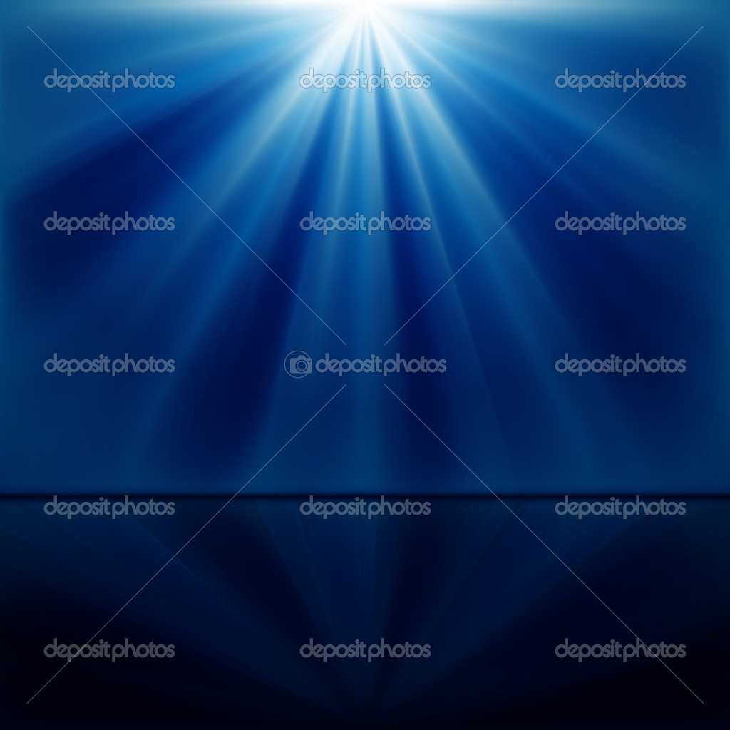 Background of blue luminous rays — Stock Vector #4468765