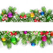 Royalty-Free Stock Vektorfiler: Christmas background with snow-covered branches
