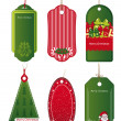 Bright Christmas tags. Vector. - Stock Vector