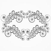 Floral curls. vintage frame. — Stock Vector