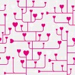Seamless heart pattern. - Stock Vector