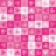 Cute heart seamless background, vector. — Stock Vector