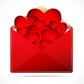 A love letter with a hearts. Vector image. — Stock Vector