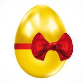 Gift golden easter egg. Vector image. — Stock Vector
