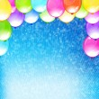 Eps10 vector beautiful funny party background. — Vecteur