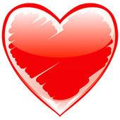 Hermoso corazón — Vector de stock