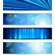 Stock Vector: Vector set of abstract banners. Blue Design. EPS10 Vector Backgr