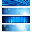 Vector set of abstract banners. Blue Design. EPS10 Vector Backgr — Stok Vektör