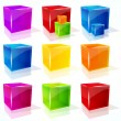 Stock Vector: Vector cubes.