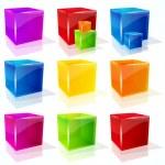 Vector cubes. — Stock Vector