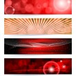 Vector set of abstract banners. Blue Design. EPS10 Vector Backgr — Stock Vector #4847686