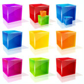 Vector cubes. — Stock Vector