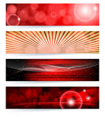 Vector set of abstract banners. Blue Design. EPS10 Vector Backgr — Stock Vector