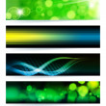 Vector set of abstract banners. Green Design. EPS10 Vector Backgr — Stock Vector