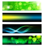 Vector set of abstract banners. Green Design. EPS10 Vector Backgr — Stock Vector
