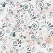 Floral seamless background of elegant colors. Vector illustratio - Stock Vector