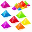 Abstract vector pyramids. - Stock Vector