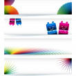 Multicolor gamut banner design in eps10 vector format. — Stock Vector #4898045