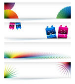 Multicolor gamut banner design in eps10 vector format. — Stock Vector