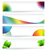 Multicolor gamut banner design in eps10 vector format. — Stok Vektör