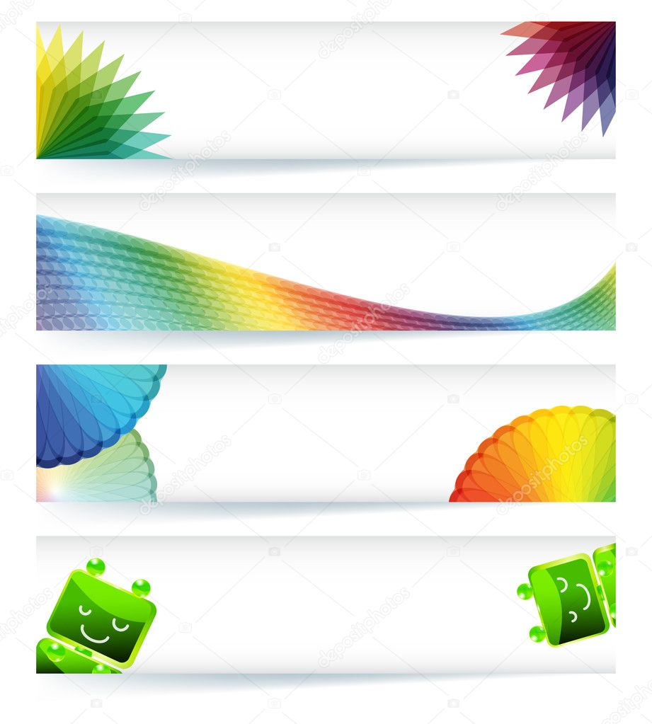 Multicolor gamut banner design in eps10 vector format.  — Stock Vector #4910446