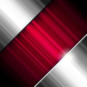Abstract background, metallic and red, vector. — Stock Vector