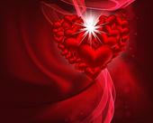 Diseño del fondo vector hermoso corazón con espacio para tu tex — Vector de stock