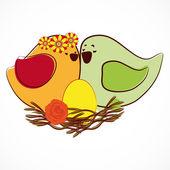 Casal de passarinhos. — Vetorial Stock