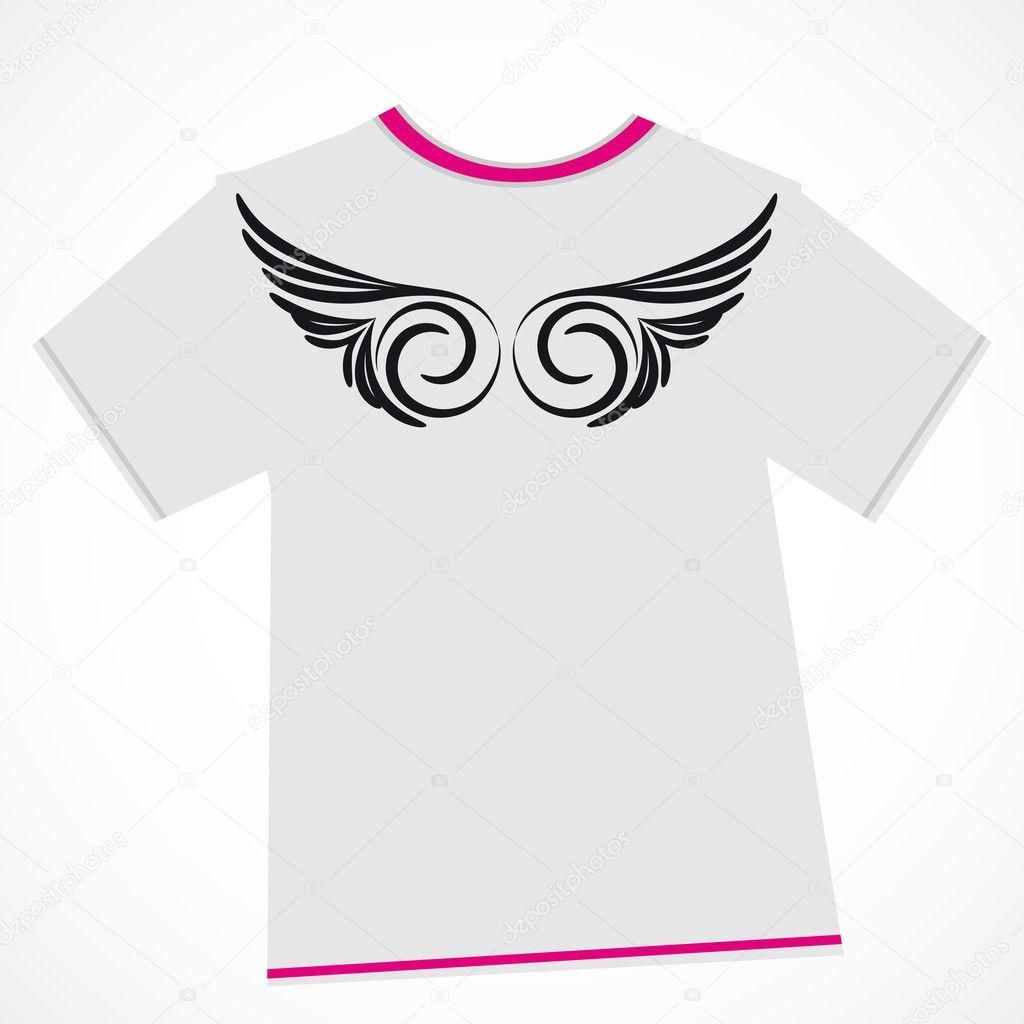 T shirt design wings stock vector olgayakovenko for Stock t shirt designs