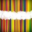 Striped sheet splodgy white paint - abstract vector background. - Stok Vektör