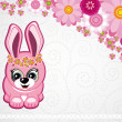 Easter greeting card the rabbit. — Stock Vector