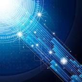 Eps10. sfondo di disegno con gli elementi della comunicazione digitali — Vettoriale Stock