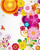 Presentkort. blommönster bakgrund. — Stockvektor