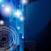Eps10. projeto fundo com os elementos digitais de communicat — Vetorial Stock