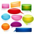 Speech bubbles of traditional and original forms. — Stock Vector