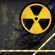 Eps10 Abstract grunge background with the emblem of radiation. - 