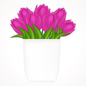 Vector illustration of bright tulips. Gradient meshes. — Stock Vector
