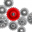 Group gears on white background. - Imagen vectorial