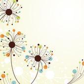 Retro abstract floral backdrop. — Stock Vector